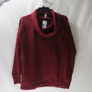 Ideology Women's Red Cowl-Neck Pullover XL $39.50